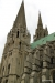 Spires and buttresses of Chartres Cathedral