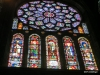 Rose stained glass window Chartres Cathedral
