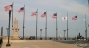 Flags at end, Navy Pier