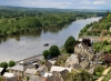 View of Chinon and Vienne River from fortress