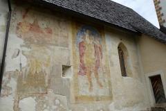 Murals of St. Christopher, Church of St. John the Baptist, Lake Bohinj, Slovenia