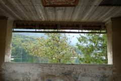 View from the porch of Church of St. John the Baptist, Lake Bohinj, Slovenia