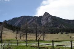 The Flatirons, viewed from Chautauqua National Historic Landmark, Boulder