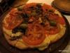 Tomato, Eggplant and provolone pizza