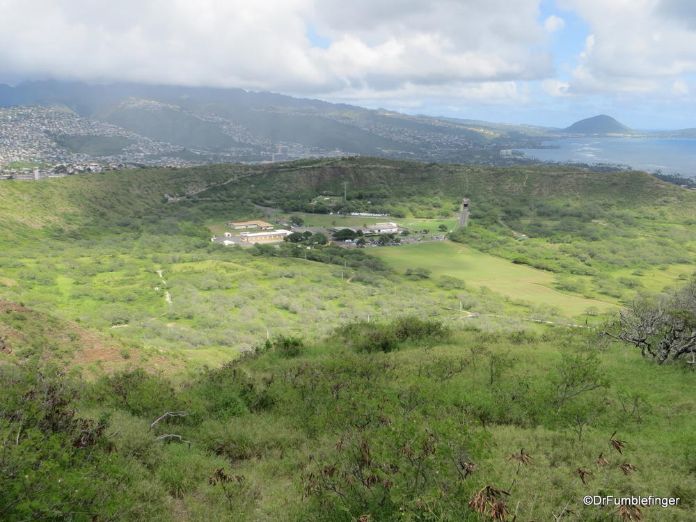 Views to the north from Crater Rim, Diamond Head State Monument