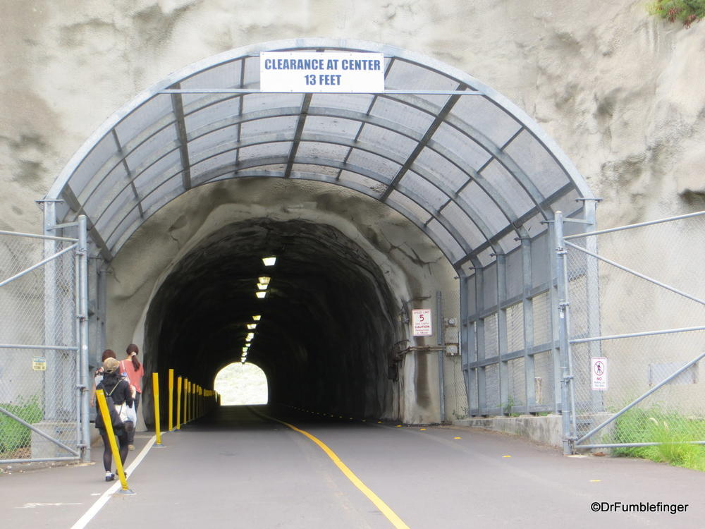 A tunnel leads through the Crater wall to Diamond Head State Monument