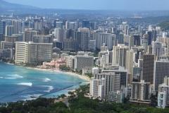 Views of Waikiki from crater rim