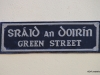 Street signs are in both Gaelic and English