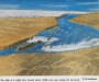 Cartoon of the massive historic waterfall in Dry Falls State Park