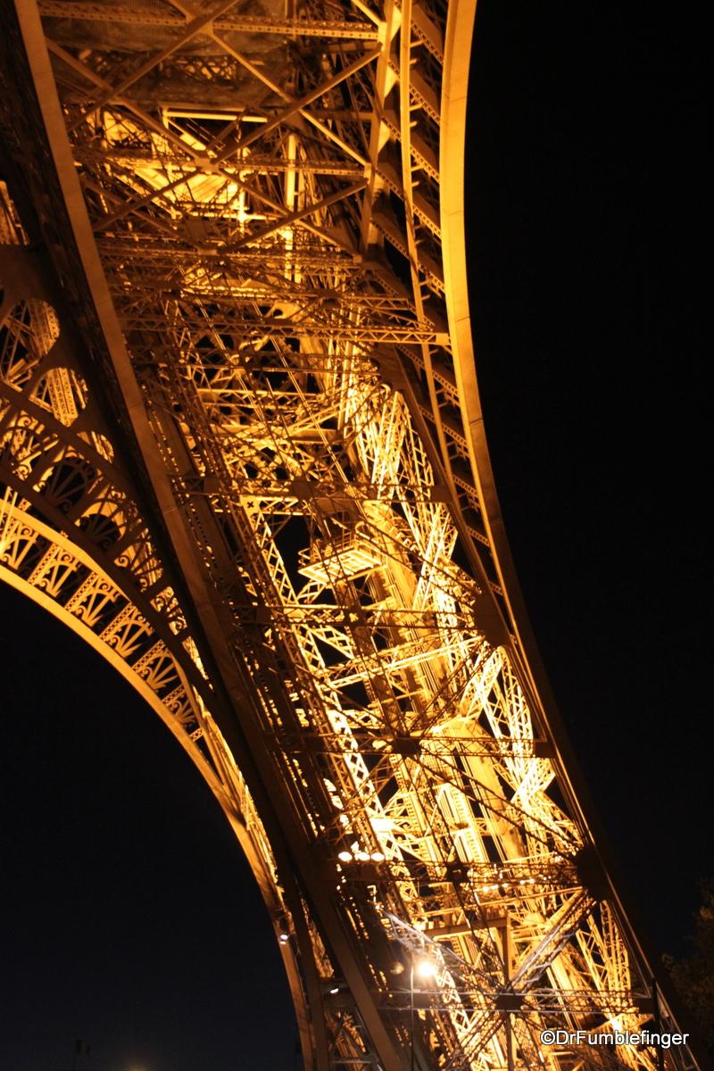 Eiffel Tower after dark