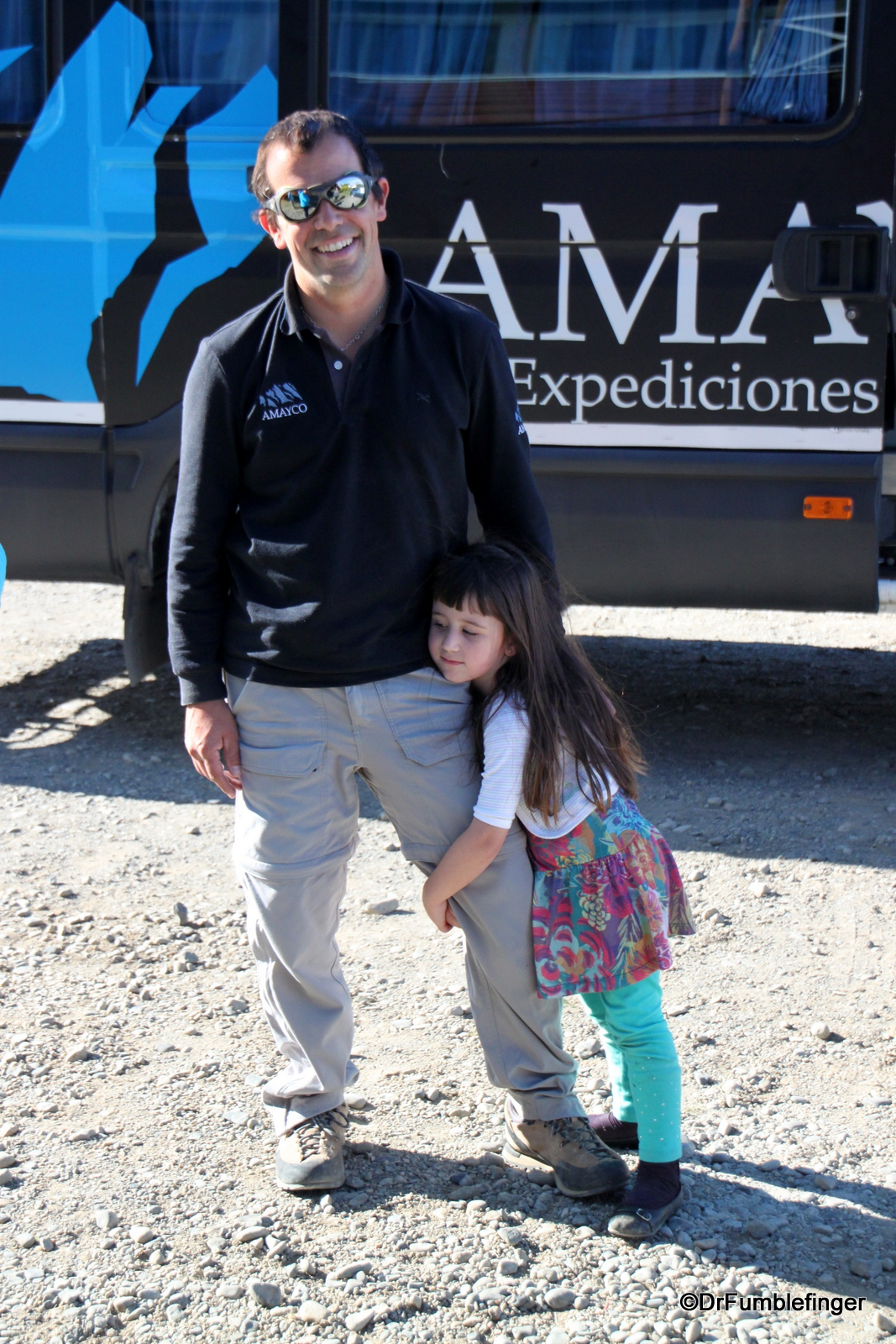 Mariano and daughter at hotel in El Calafate