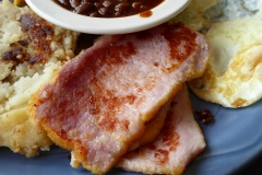 Peameal Bacon breakfast,  Elgin Street Diner