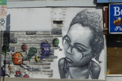 Street art near the Elgin Street Diner