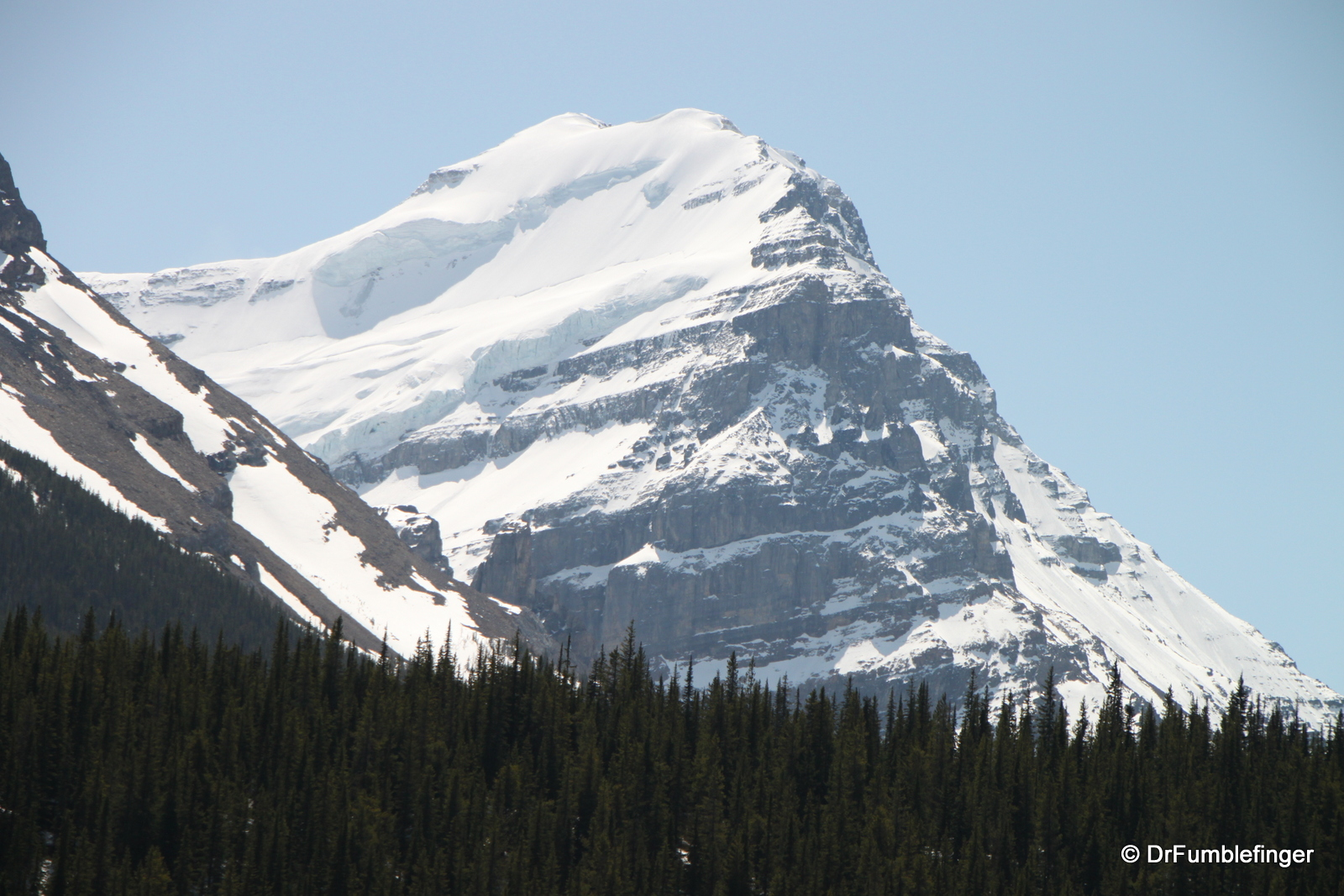 Mountain near Wapta Lake, Yoho National Park
