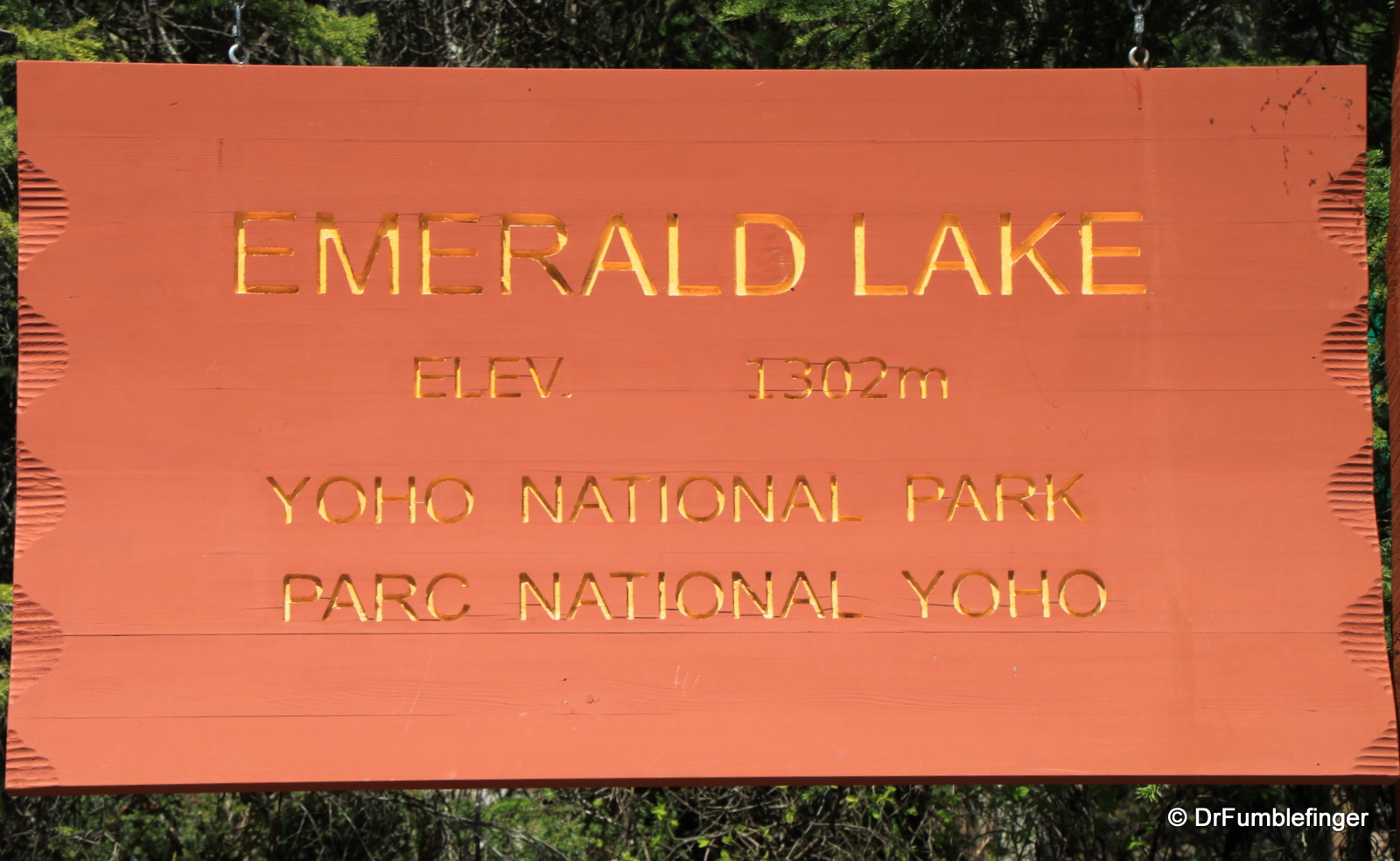 Emerald Lake sign
