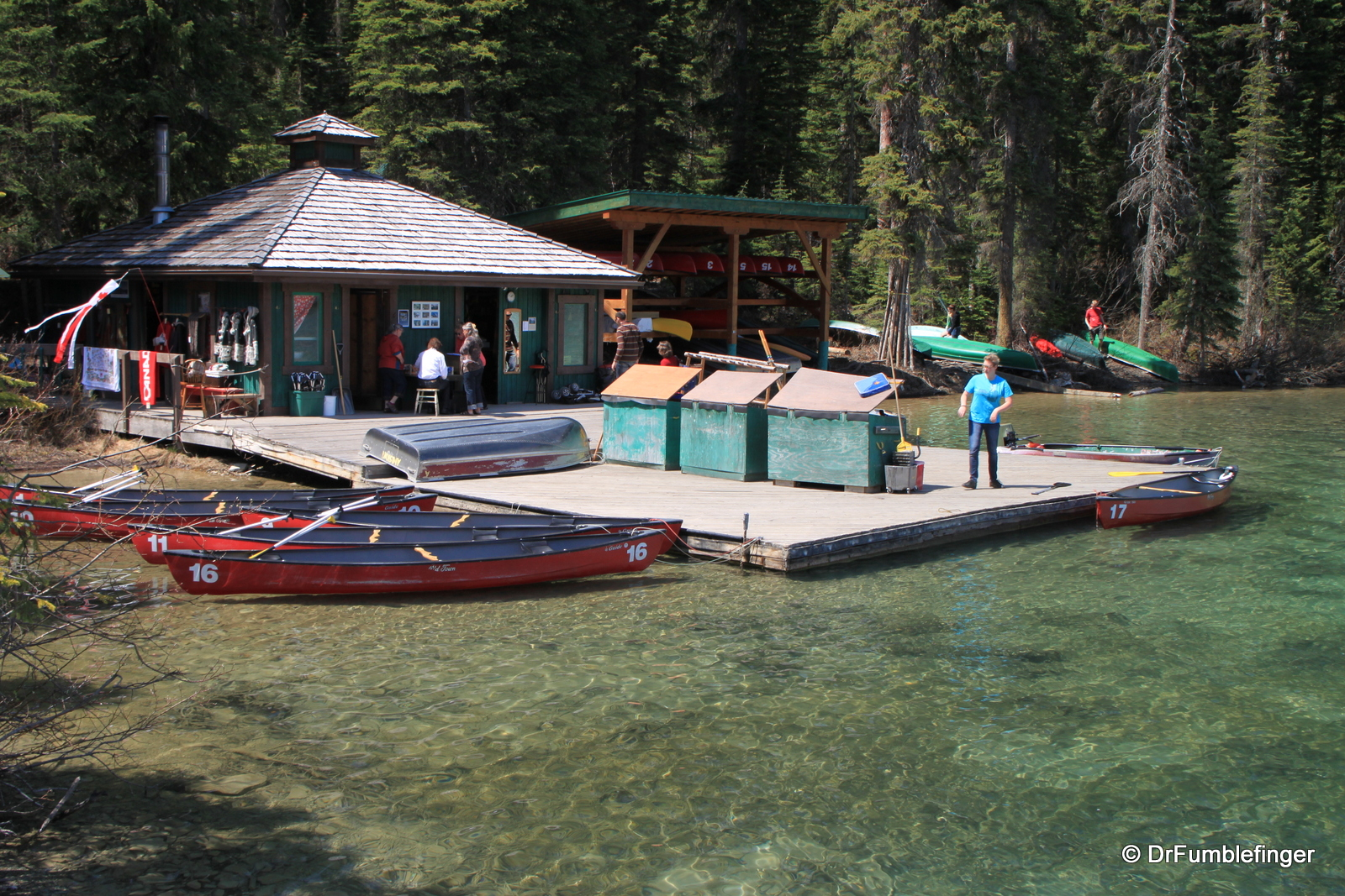 Emerald Lake Lodge boat house