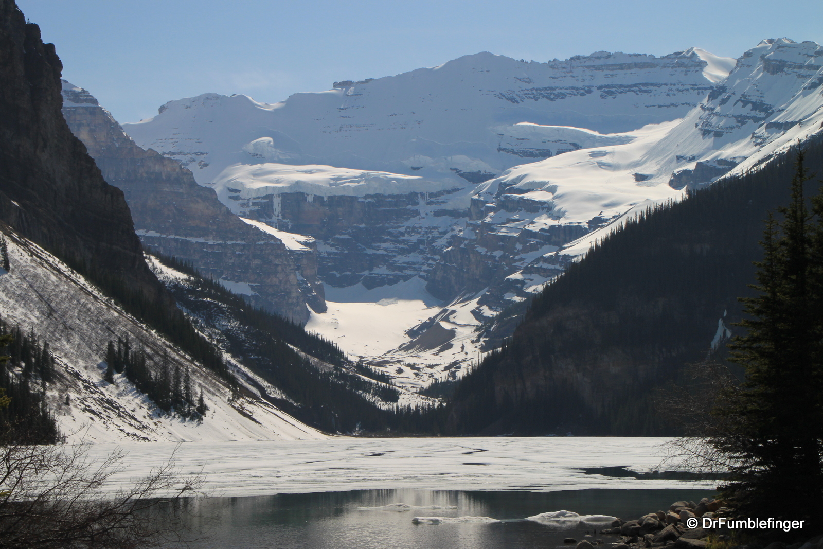 Lake Louise -- still iced over in May