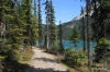 Emerald Lake, trail on West Shore