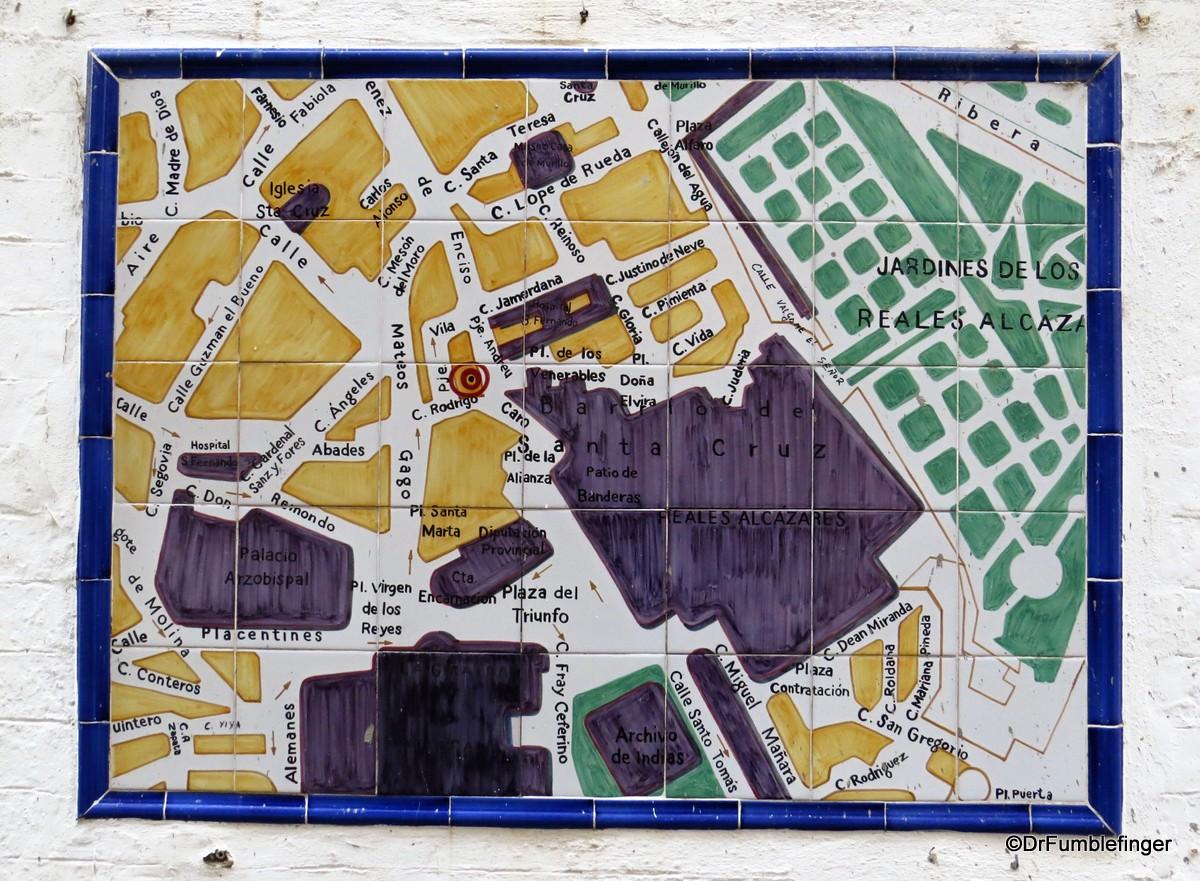 Map of Barrio Santa Cruz, Seville