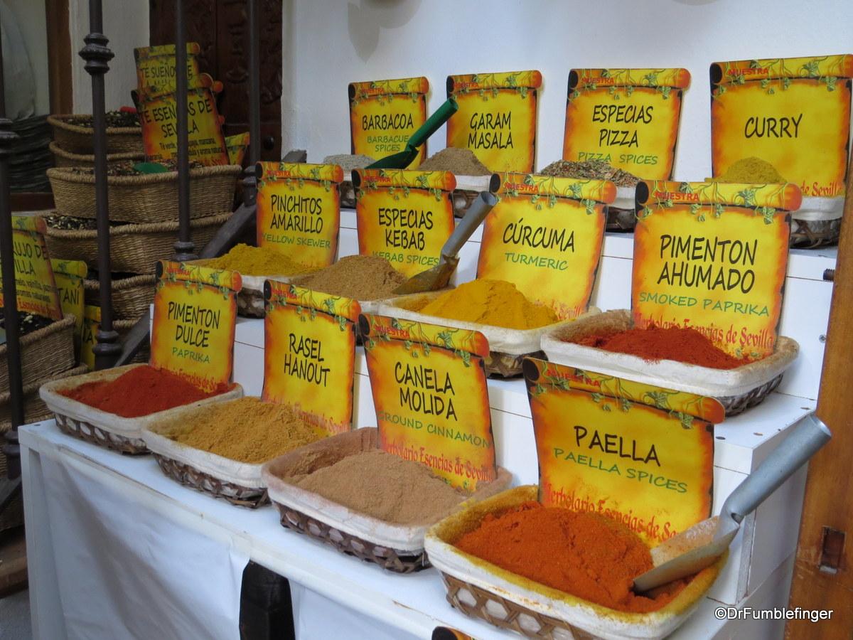 Spice shop in in Barrio Santa Cruz, Seville