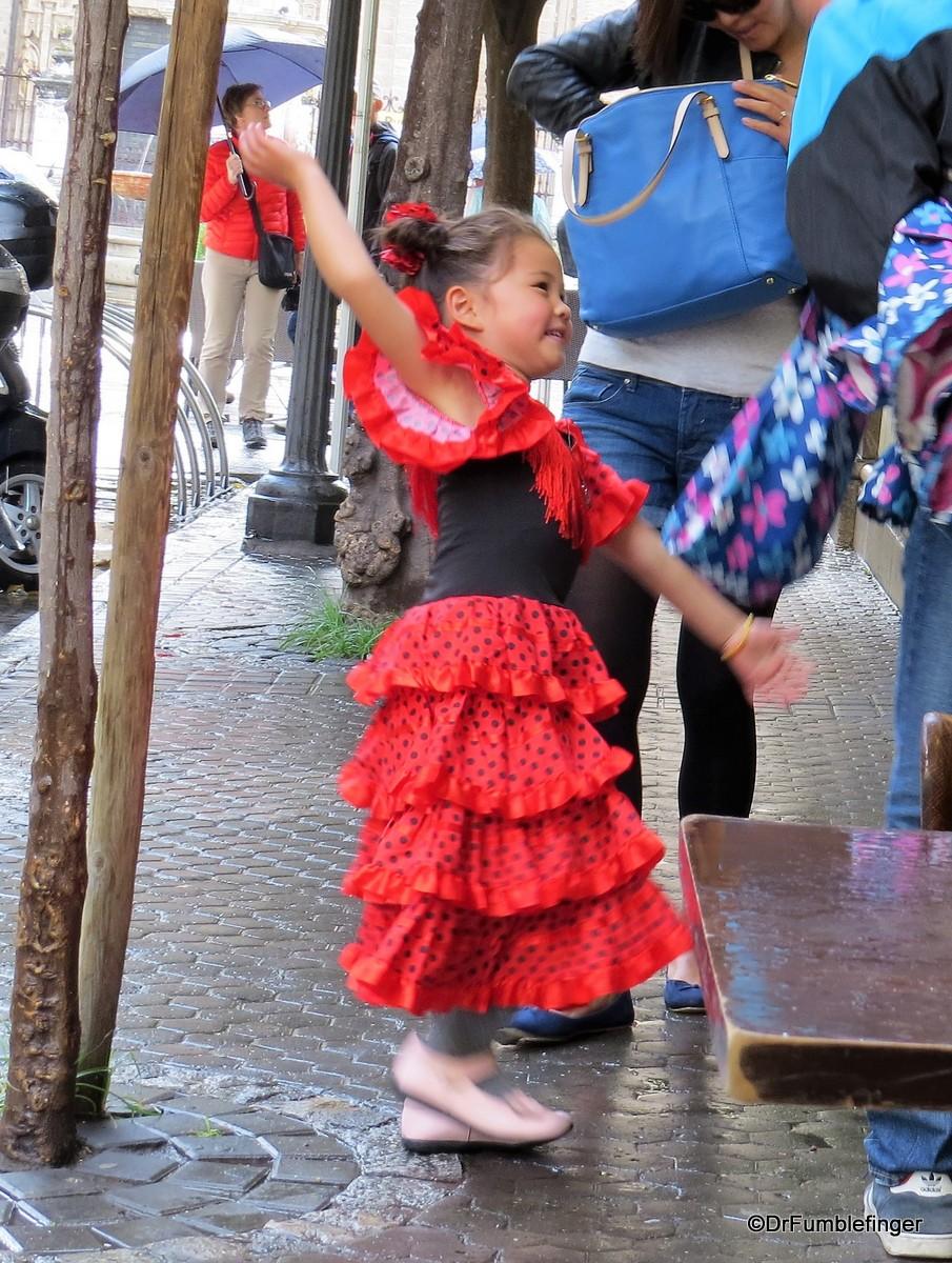 Young Flamingo dancer in Barrio Santa Cruz, Seville