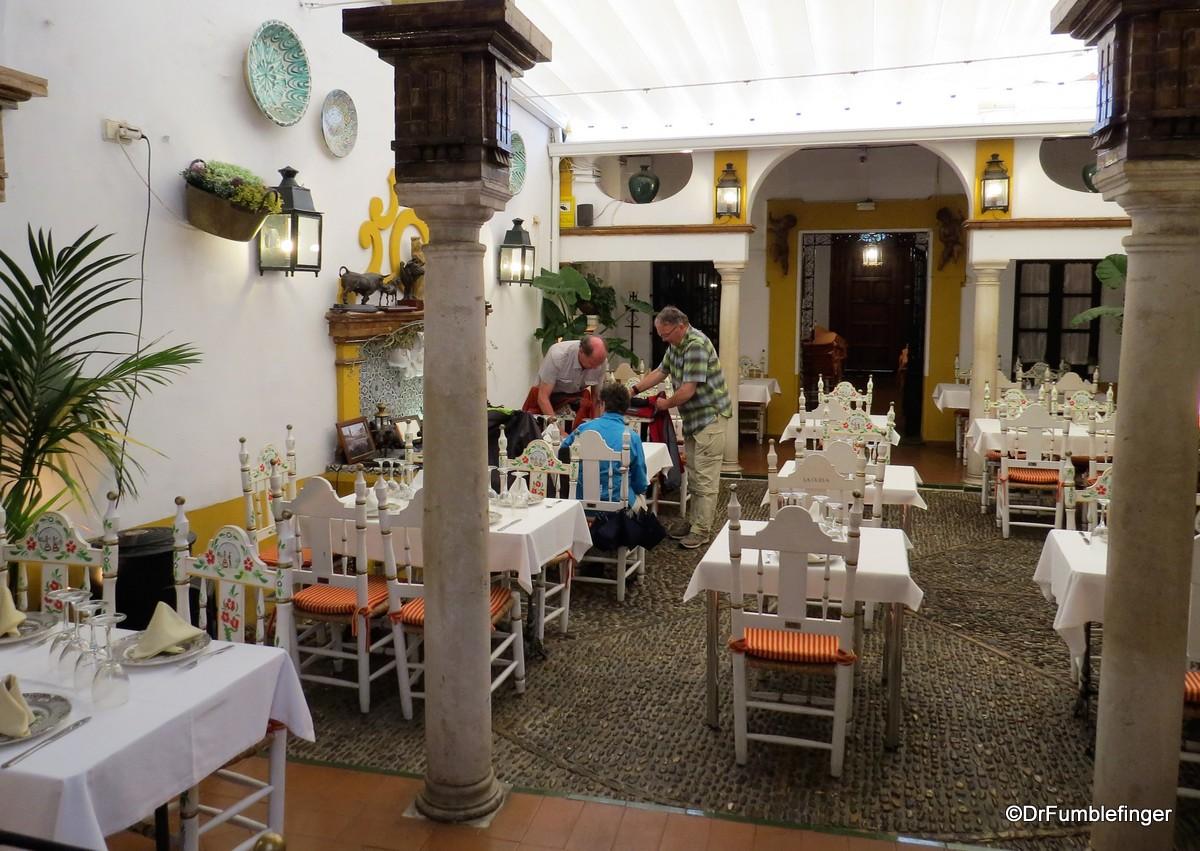 Small cafe in Barrio Santa Cruz, Seville
