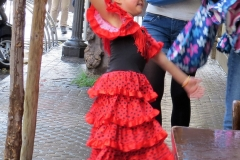 Young Flamingo dancer in Barrio Santa Cruz, Seville