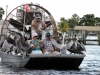 Everglades airboat, with Pelican hitch-hikers