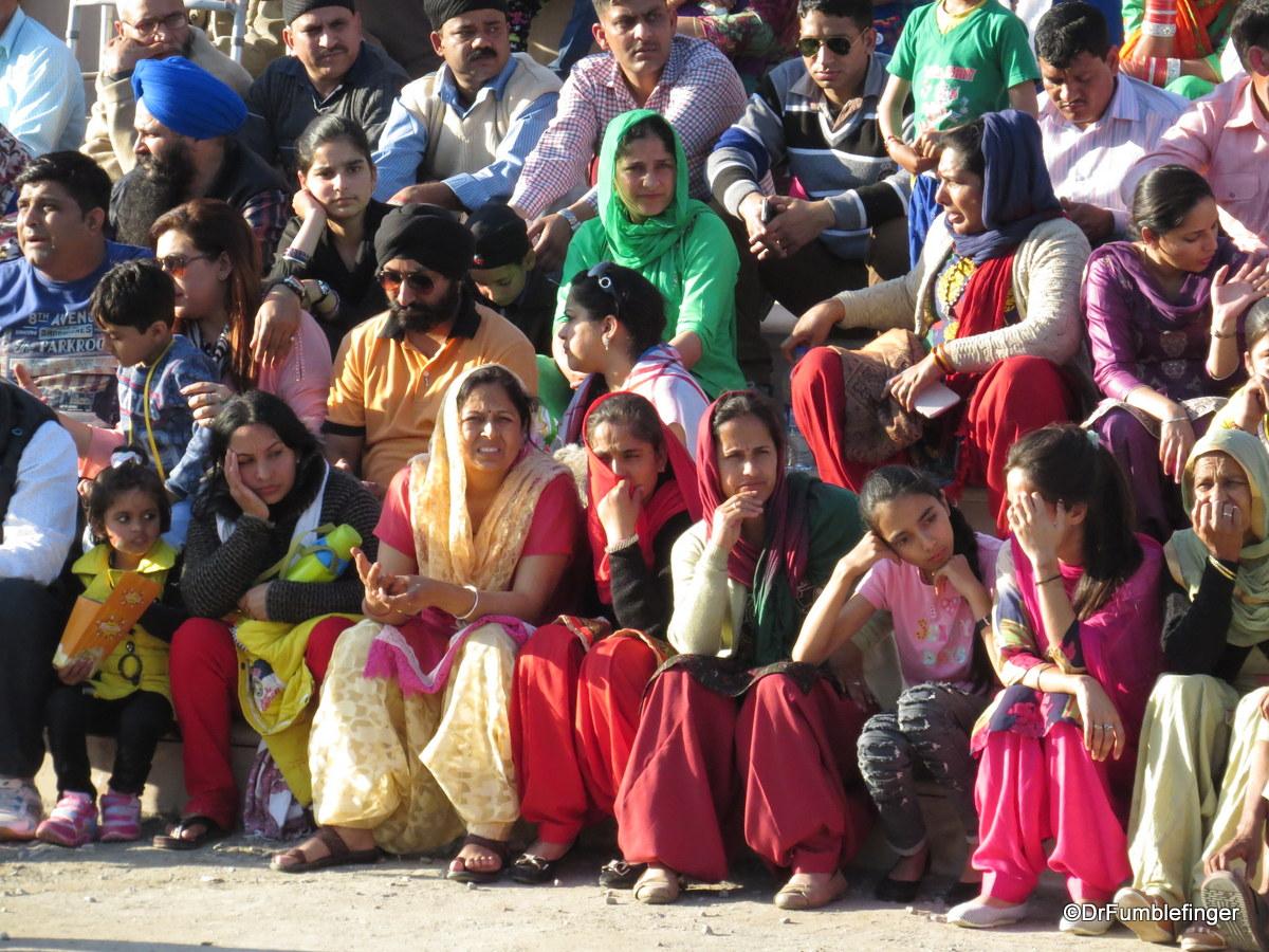 Faces at the Wagah Border, India