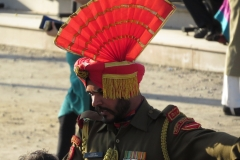 Faces at the Wagah Border, India