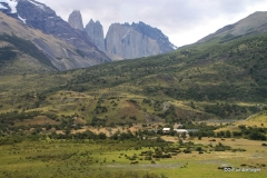 Distant views of Torres del Paine