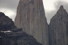 The characteristic granite spires of Torres del Paine