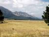 The Flatirons and prairies, viewed from Flatiron Vista Loop Trail