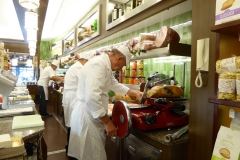 Milan Food Tour, Brera neighborhood. Rossi and Grassi, Salumieri