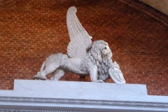 Winged lion atop the Titian Monument, Frari Church, Venice
