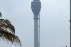 New Observation tower viewed from the Galle Face Green, Colombo