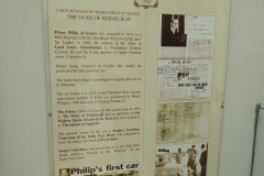 Prince Philips old car Galle Face Hotel Museum