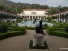 Outer Peristyle, Getty Villa. A typically Roman era collection of plants, statues, walkways and pool