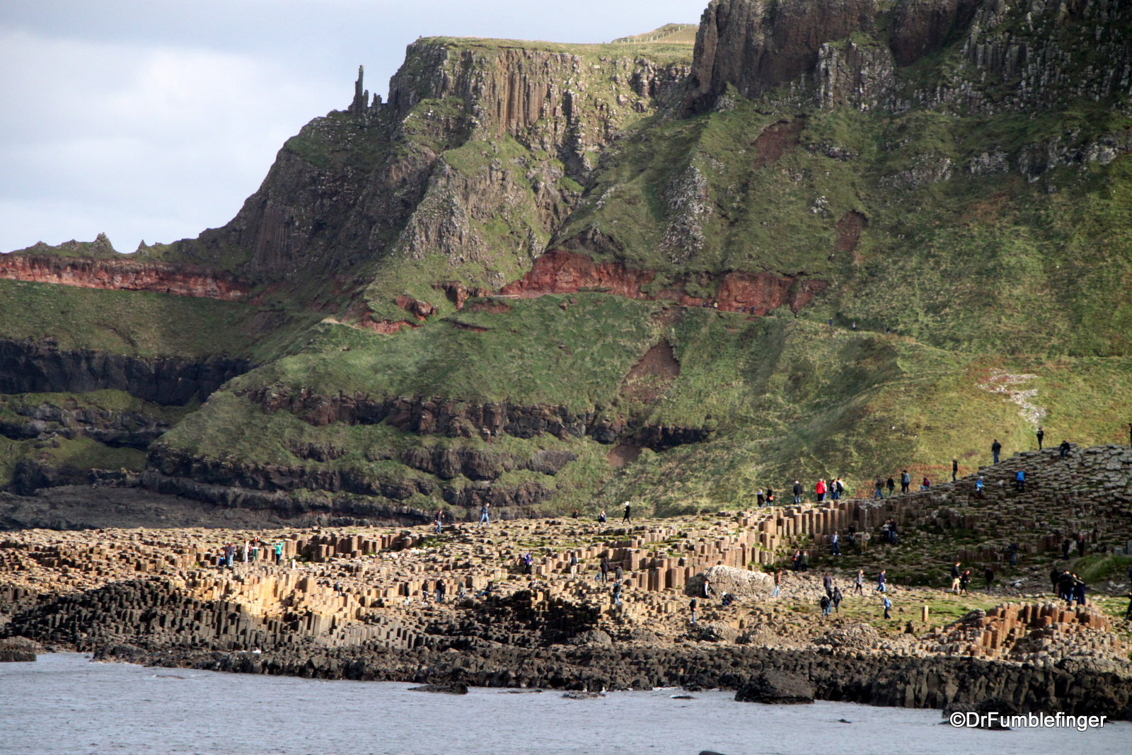 First view of Giant's Causeway