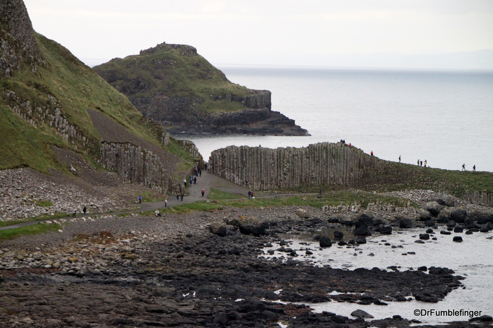 Distant views of the Giant's Causeway