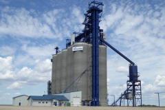 Modern grain elevator, St. Agathe, Manitoba