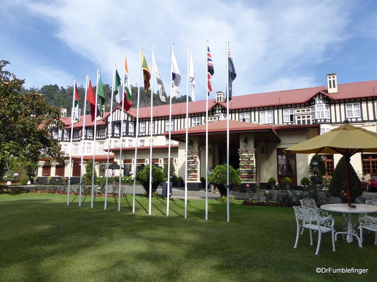 Front Entrance to the Grand Hotel, Nuwara Eliya