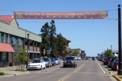 Entering downtown Grand Marais