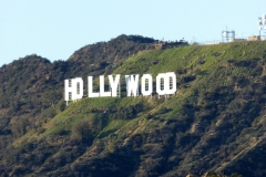 Hollywood sign, as seen from the Griffith Observatory
