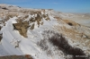 View from top of Buffalo Jump, showing drop-off