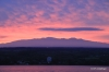 Mauna Kea silhouetted by sunset