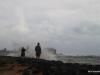 Spectators watch as Hurricane Ana approaches Kauai's southern shore, Kekaha