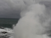 The Spouting Horn highlights the water's force as Hurricane Ana approaches Kauai's southern shore, Kekaha