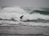 The Tropical Storm didn't slow down the surfers, who were in their element.
