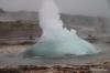 Strokkur Geysir begining to erupt